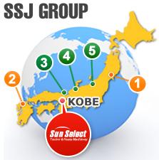 SSJ GROUP 日本地図